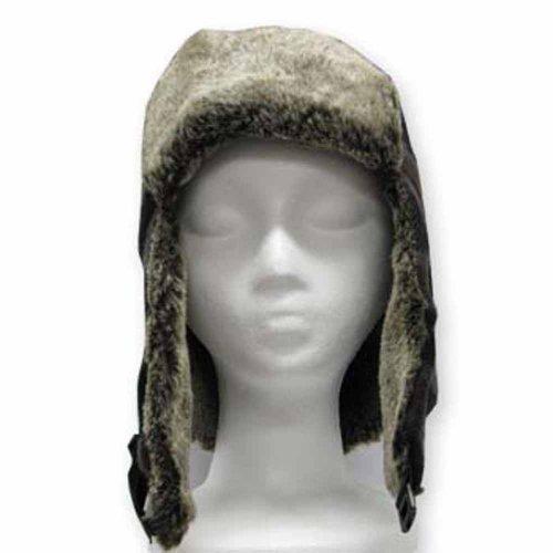 MANHATTAN TRAPPER Casual Ushanka Trooper Pilot AVIATOR Soft Faux Fur Hat Men and Women 7 5/8