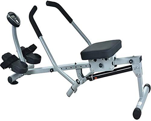 ZJZ Roeimachine Roeimachine voor thuis Gym, Water Rowing Machine, Kleine Stille Dubbele Paddle Roeimachine, Thuis Indoor…