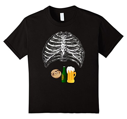 Kids Funny Beer And Cookies Halloween Shirt Costume 4 (Best Four Person Costumes)