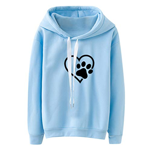 ZEFOTIM Women Hoodies, Women Long Sleeve Casual Hooded Sweatshirt Pullover Top Blouse