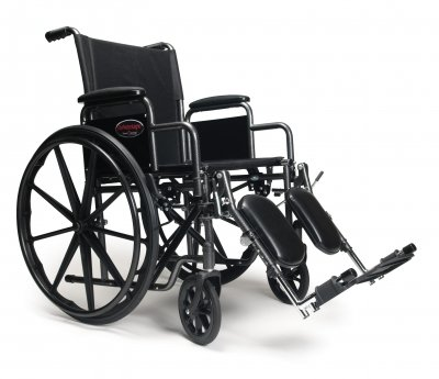 Everest & Jennings 3H010330 Advantage Wheelchair, Detachable Desk Arm, Elevating Legrest, 20
