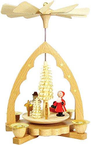 Glasser 16341 Richard Glaesser Pyramid-Santa, Deer and Snowman-7.5