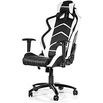 AKRacing Player Gaming Chair, Faux Leather, Black/White