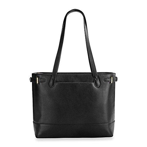 Levenger Women's Leather Ivy Tote Bag - Black by Levenger