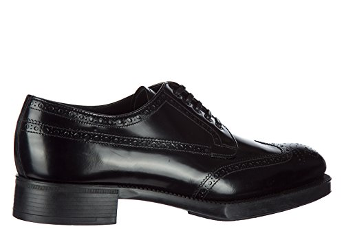 De Prada Vrouwen Schoenen Leer Het Vrouwelijk Ondernemerschap Shoes Lace Derby Zwart