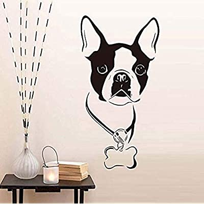 vbgdf Wall Sticker Cute Dog Animal Decal PVC Removable Art Wall Stickers Sticker Wallpaper Kids s Room Home Decoration 33 59Cm: Home & Kitchen