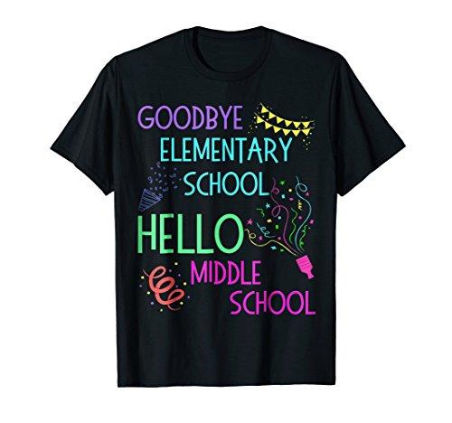Hello Middle School Graduation Elementary School T-Shirt