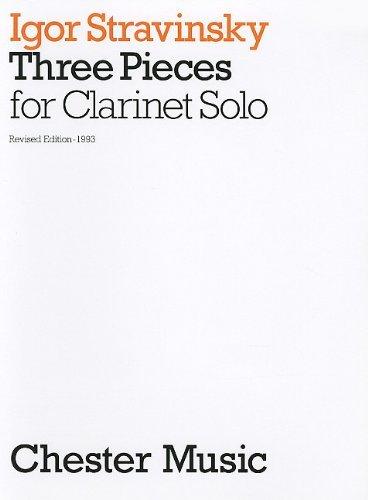 Igor Stravinsky: Three Pieces for Clarinet Solo by Igor Stravinsky (Composer) (1-Jan-2000) (Igor Stravinsky Three Pieces)