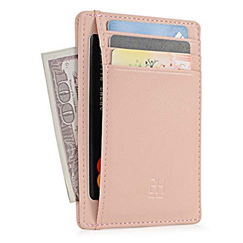 GH GOLD HORSE Slim RFID Blocking Card Holder Minimalist Leather Front Pocket Wallet for Women - Card Holder Womens Leather