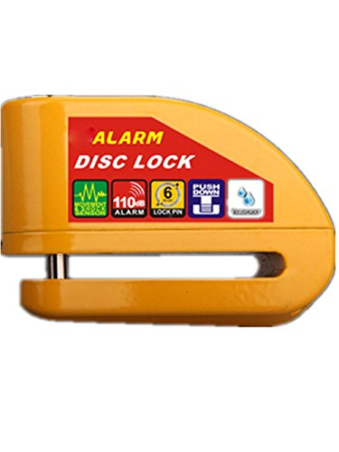 High Quality Anti Theft Yellow Motorcycle Motorbike Bike Disc Lock AlarmAlarm for Motorcycle, Stainless Steel