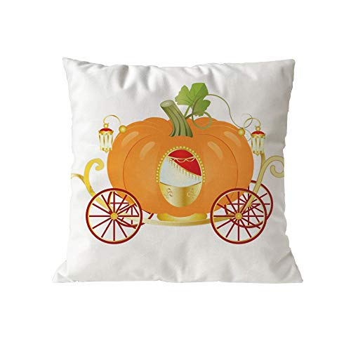 GOVOW Thanksgiving Day Gifts Decor Halloween Pumpkin Cushion Cover Square Pillow Case -