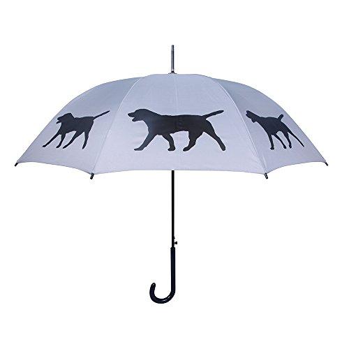 Lab Umbrella - San Francisco Umbrella Co, Silver/Black Labrador Retriever Umbrella