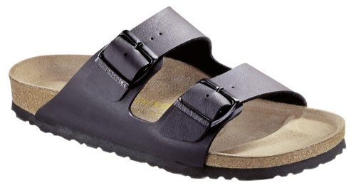 Birkenstock Unisex Arizona Slide Fashion Sandals, Black Leather, 35 - Mens Slides Arizona