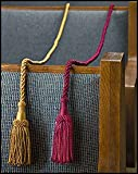 "Weighted Pew Ropes, Rayon and Cotton -- 48"" L with 5"" Tassels"