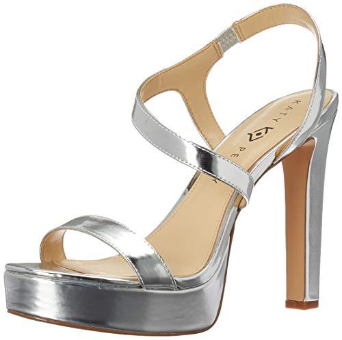 Katy Perry Women's The Naomi-Mirror Heeled Sandal Silver 7.5 M Medium US