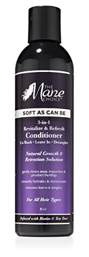 THE MANE CHOICE Soft As Can Be Revitalize & Refresh 3-in-1 Co-Wash, Leave-In, Detangler (8 Ounces / 230 Milliliters) - Multi-Action Hair Treatment Formulated to Revitalize & Refresh Your Hair