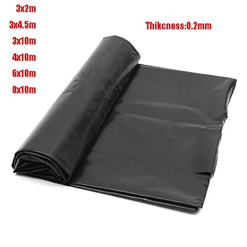 Davitu Top Quality Fish Pond Liner Garden Pools Reinforced HDPE Heavy Duty Professional Landscaping Pool Waterproof Liner Cloth 0.2mm - (Color: 4x10m) by DalaB