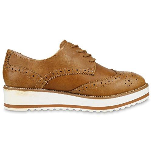 napoli-fashion - Zapatos de vestir brogues Mujer marrón claro