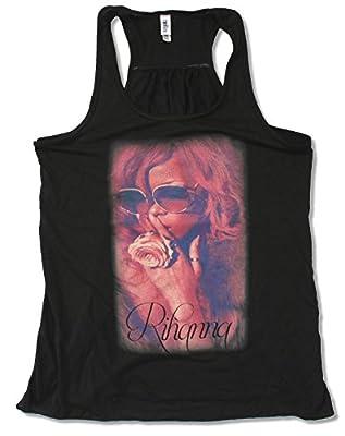 Juniors Rihanna Shhh Photo Black Tank Top Shirt