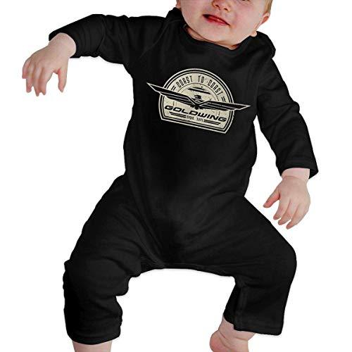 ZLRY Infant Long Sleeve Romper Goldwing-Retro Newborn Babys 0-24M Organic Cotton Jumpsuit Outfit Black ()