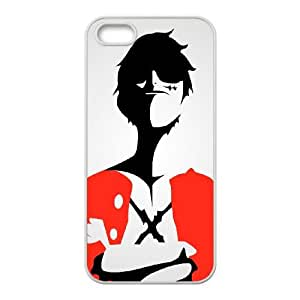 iPhone 4 4s Cell Phone Case White One Piece Luffy Artwork LV7981863