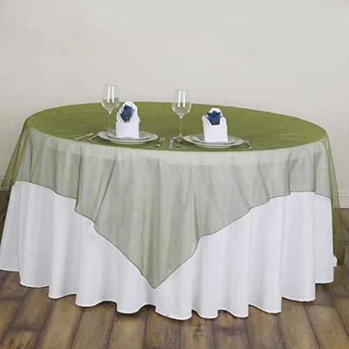 Mikash 6 pcs 72x72 Sheer Organza Overlays Wedding Party Table Decorations | Model WDDNGDCRTN - 18427 | -