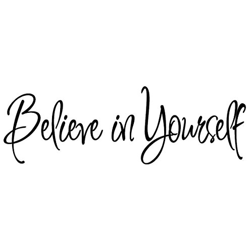Believe in Yourself Decal Wall Quote Sayings Stickers Quotes Vinyl Inspirational Wall Decals Words Letters by VWAQ (Motivational Wall Sticker Quotes)