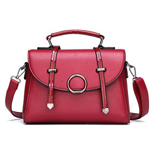Tracolla A Vintage Simple Lady colore S Rxf 1 Borsa Red Dimensioni AExqxU