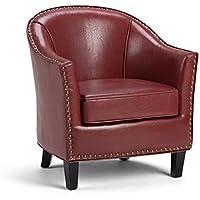 Simpli Home Kildare Tub Chair, Radicchio red