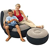Ultra Lounge Inflatable Chair w/ Ottoman Sofa Dorm Chair U.S Top Seller!