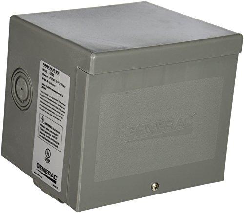 Generac 6341 50-Amp 125/250V Raintight Power Inlet Box with Spring-Loaded Flip (Generac Rv Generators)