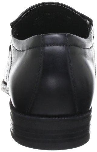 Bugatti T0668S1 - Mocasines de cuero para hombre Negro (Schwarz (schwarz 100))