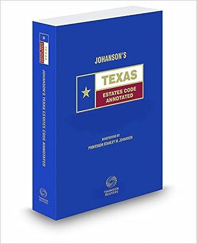 Amazon com: Johansons Texas Estates Code Annotated, 2017 ed