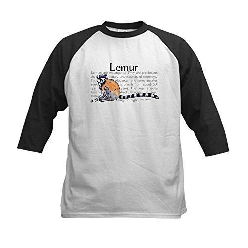 CafePress - Lemur Kids Baseball Jersey - Kids Cotton Basebal