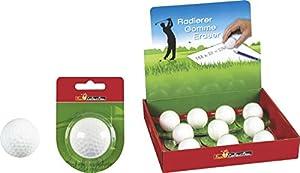 Radiergummi / Radierer Golfball (weiß / 40 mm) ORIGINALGRÖSSE