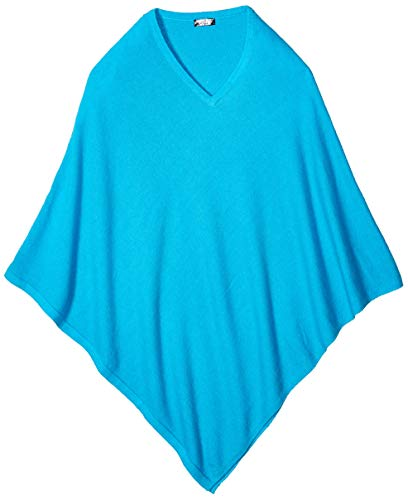 100% Cashmere Poncho - Colour 'Turquoise' High Quality Pashmina Poncho - Hand Made in Nepal By Pure Himalayan Pashmina - RRP $150