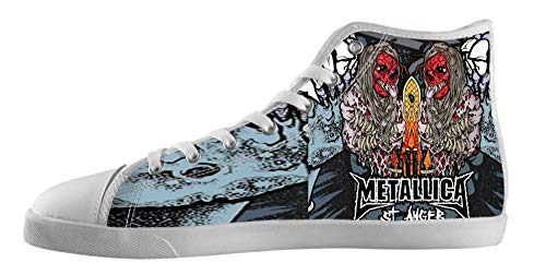 Canvas rock Canvas band band Shoes High style Men's Top Shoes Men rock style white5 for WnqS5vgX0