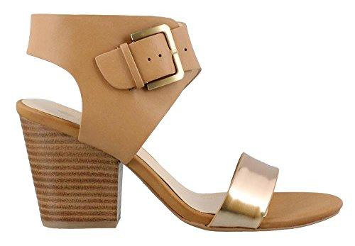 STUDIO ISOLA Women's, Lacina High Heel Sandals TAN 7.5 M