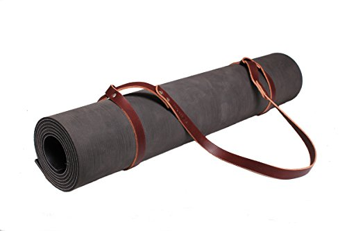 Fyxation Leather Yoga Mat Holder, Brown