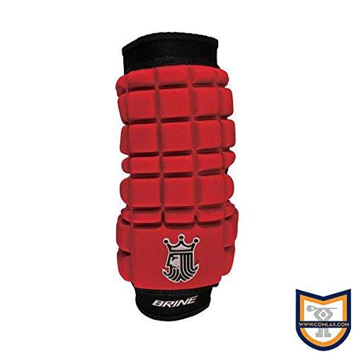 Brine LoPro Superlight Lacrosse Arm Pad (Medium, Red)