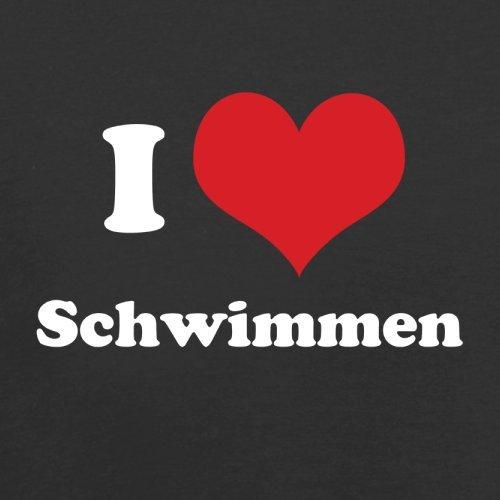 I Love Schwimmen - Herren T-Shirt - Schwarz - XL