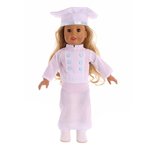Baker Trunk - Gbell Professional Baker Chef Uniforms for 18 inch Our Generation American Girl Doll or Other 18 Inch Dolls, Doll Accessories for Girls (Blue)