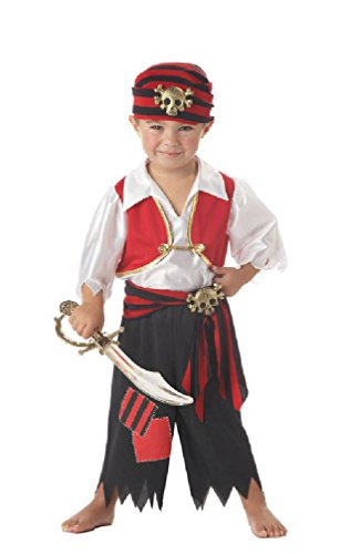 8eighteen Ahoy Matey Skull Pirate Toddler Halloween Costume (Ahoy Matey Mens Adult Costume)