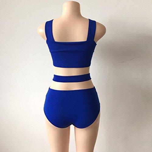 Trajes de baño para mujer,RETUROM Traje de baño caliente vendedor caliente del bikiní del Push-Up de las mujeres Azul