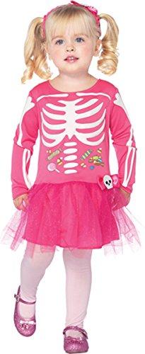 [Morris Costumes Little Girls' Candy Skeleton 3T-4T] (Little Girl Skeleton Costumes)