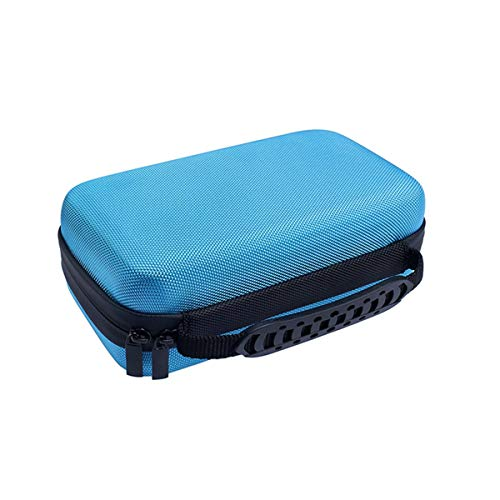 SJINC Box Pencil Case Storage Zipper Semi-Hard EVA Protective Carrying with Strap Pouch Case, Blue