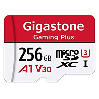 Gigastone 256GB Micro SD Card, Gaming Plus, Nintendo Switch Compatible, High Speed 100MB/s, 4K Video Recording, Micro SDXC UHS-I A1 Class 10