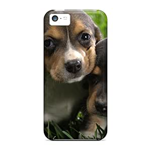 High Quality Beagle Puppies Case For Iphone 5c / Perfect Case