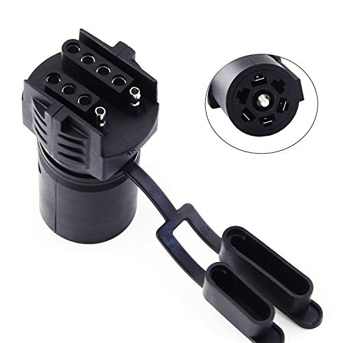 COROTC 7 Way to 4 Way 5 Way Trailer Adapter, 7 Pin Round to 4 Pin 5 Pin Flat Blade Trailer RV Boat Connector Plug