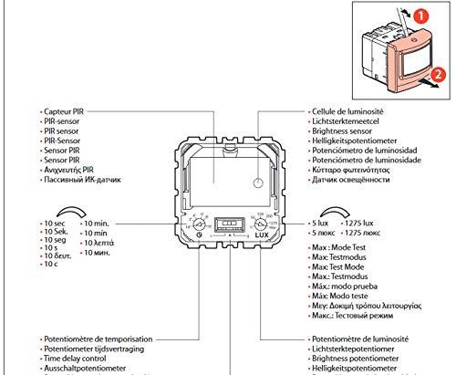 Detector de Movimiento PIR pasivo infrarrojo legrand Blanco Leg de 078459: Amazon.es: Bricolaje y herramientas